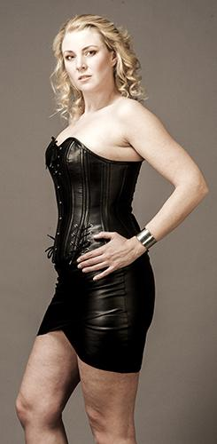 Overbust Sheep Leather, Black