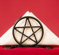 Napkin holder  pentagram