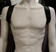 Leather Harness Shoulders Black