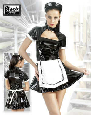 Vinyl Maid Dress