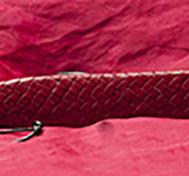 Red Hard LeatherThin Paddle