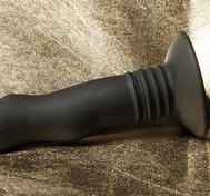 Short, Strap-on Compatible Vibrator, Black
