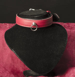 Lined collar in genuine leather