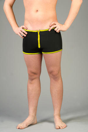 Neoprene Shorts with Zipper