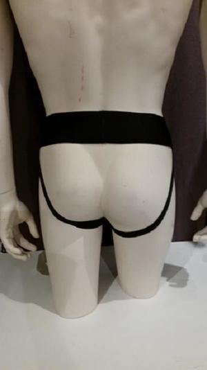 Leather Jocks with Grey Stripe
