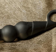 "Anal Beads with Handle, ""Ice Cream Cornet"", Black"