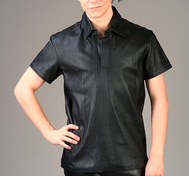 Leather Polo Shirt (multiple colors)