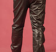 "Black leather pants ""Loose fit"""
