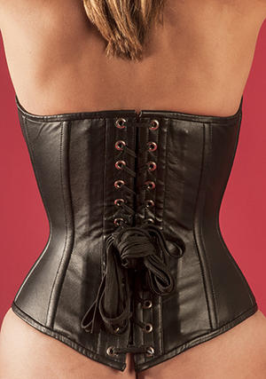 Black /Red lambskin-corset